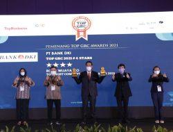 Bank DKI Raih Penghargaan TOP GRC #4 stars